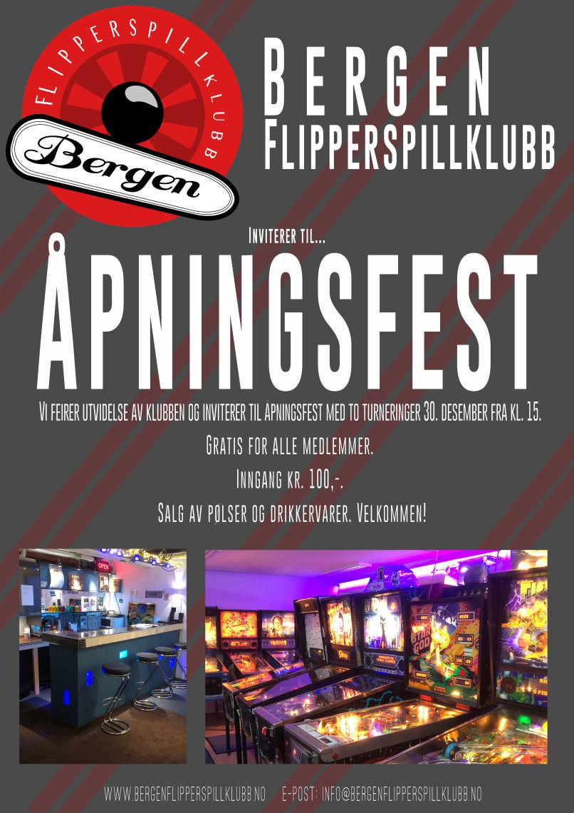 åpningsfest flipperklubben